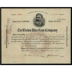 Brown Wire Gun Co., Issued Stock.