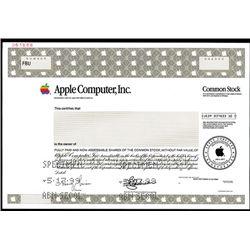 Apple Computer Inc., Specimen Stock.