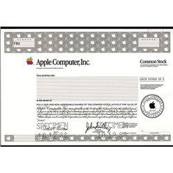 Apple Computer, Inc., Specimen Stock.