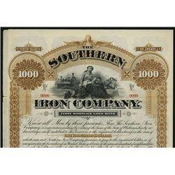 Southern Iron Co. Specimen Bond.