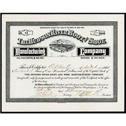 Hudson River Boot and Shoe Manufacturing Co., Issued Stock.