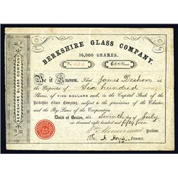 Berkshire Glass Co., Issued Stock.