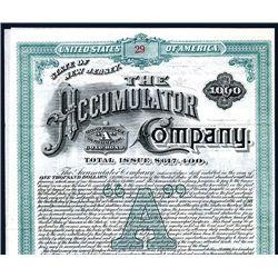 Accumulator Co., Issued Bond.