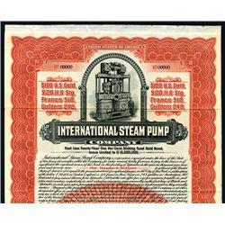International Steam Pump, Specimen Bond.