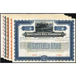 United States Steel Corp. Specimen Bonds. Lot of 5.