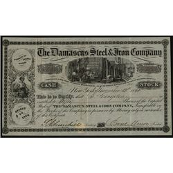 Damascus Steel & Iron Co., Issued Stock.