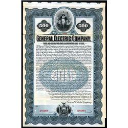 General Electric Company Historic 1902 Specimen Bond.