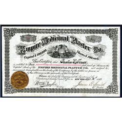 Empire Medicinal Plaster Co. Issued Stock.