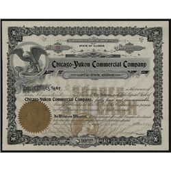 Chicago-Yukon Commercial Co., Alaska related Stock Certificate.