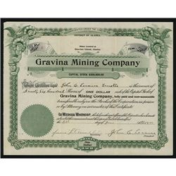 Gravina Mining Co. Issued Stock.