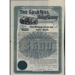 Gold Hill Mining Co., Issued Bond.