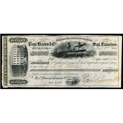 Page, Baron & Co. San Francisco, Issued Bill of Exchange.