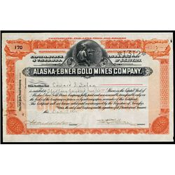 Alaska-Ebner Gold Mines Co. Issued Stock.
