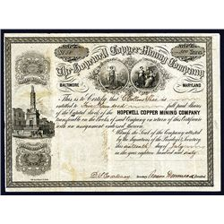 Hopewell Copper Mining Co. Issued Stock.