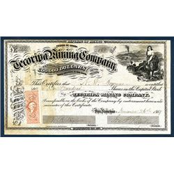 Tecoripa Mining Co. 1864 Issued Stock.