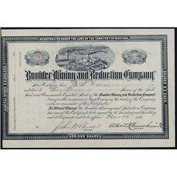 Boulder Mining and Reduction Co. Issued Stock.