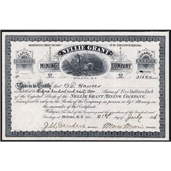 Nellie Grant Mining Co. Issued Stock.