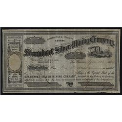 Steamboat Silver Mining Co. Issued Stock.
