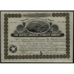Central American Syndicate Co., Issued Stock.
