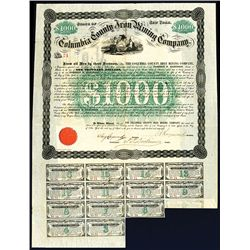 Columbia County Iron Mining Co., 1868 issued Bond.