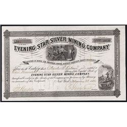 Evening Star Silver Mining Co. Issued Stock.