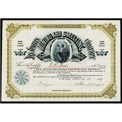Los Angeles Mining and Smelting Co. Issued Stock.