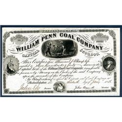William Penn Coal Co. Issued Stock.