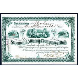 Stormont Mining Co. of Utah, Issued Stock.