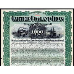Carter Coal and Iron, Specimen Bond.