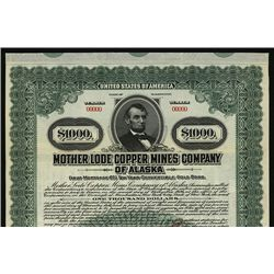 Mother Lode Copper Mines Co. of Alaska, Specimen Bond.