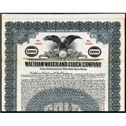 Waltham Watch and Clock Co. Specimen Bond.