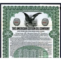 American Cotton Oil Co. Specimen Bond.