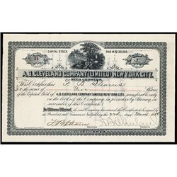 A.B. Cleveland Co. Ltd. Issued Seed Company Stock Certificate.