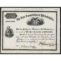 Law Association of Philadelphia Issued Certificate.
