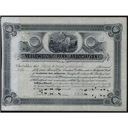 Yellowstone Park Ass., Issued Stock.