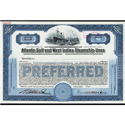 Atlantic, Gulf and West Indies Steamship Lines, Specimen Stock.