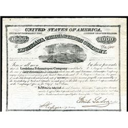 Louisiana Tehuantepec Company, 1857 Issued Bond.
