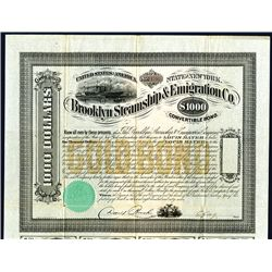Brooklyn Steamship & Emigration Co., Issued Bond.