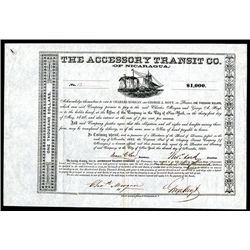 Accessory Transit Co. (of Nicaragua), Issued Bond.