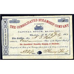 Consolidated Steamship Co. Issued Stock.