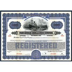 Port Arthur Canal & Dock Co., Specimen Bond.