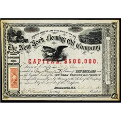 New York Flowing Oil Co., Issued Stock.