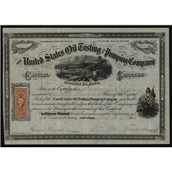 United States Oil Testing and Pumping Co., Issued Stock.