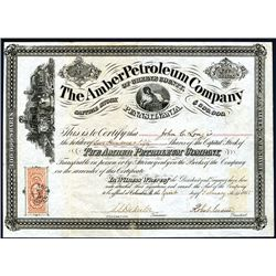 Amber Petroleum Co., Issued Stock.