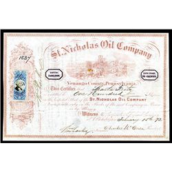 St. Nicholas Oil Co. Issued Stock.