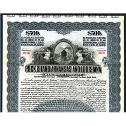 Rock Island, Arkansas and Louisiana Railroad Co., Specimen Bond.