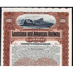 Louisiana and Arkansas Railway Co., 1902, Specimen Bond.