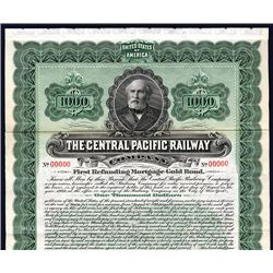 Central Pacific Railway Co., Specimen Bond.