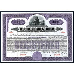Colorado and Southern Railway Co., Specimen Bond.