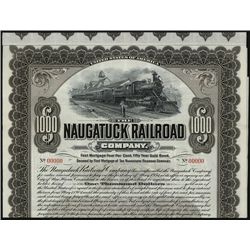 Naugatuck Railroad Co., Specimen Bond.